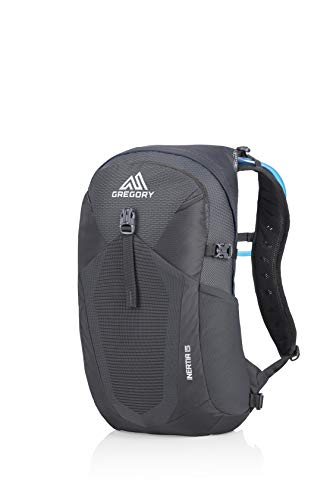 Gregory Mountain Products Inertia 15 Liter Men's Hydration Daypack, Shadow Black, One Size