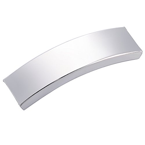 Rectangle Curved (5PCS Stainless Steel Rectangle Curved Tube Bead for Jewelry Making 40mmx12mm)