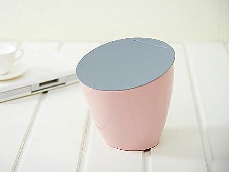 shopline Mini papelera de mesa, resistente papelera con tapa para ...