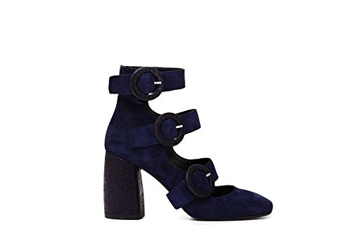 Cafè Noir LMC515228390 228 Blu 39 Suede Ribbon With Buckle FIBBIES vxImOTvtiC