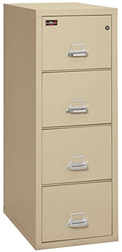 FireKing Fireproof 2 Hour Rated Vertical File Cabinet (4 Letter Sized Drawers, Impact Resistant, Water Resistant), 56.19