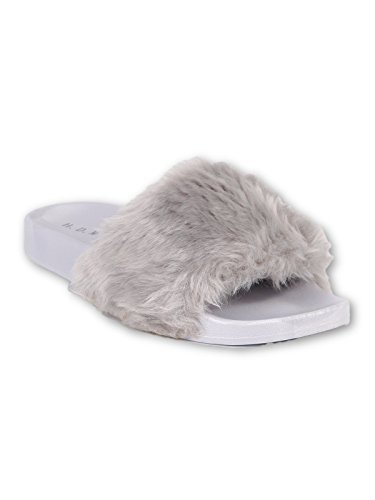 MECshopping Chaussons Chaussons Gris Femme pour MECshopping rqz1fOr