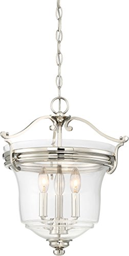 Minka Lavery Ceiling Pendant Chandelier Lighting 3297-613 Audrey's Point, 3-Light Fixture 180 Watts, Polished -