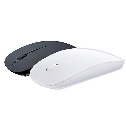 Peanutaoc Kit Combinato Mini Tastiera e Mouse Wireless Nero Ultra Sottile K119 per PC Desktop Loptop Classic Office Set