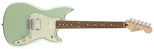 Fender Pickup Specs - Fender 144023549 Duo-Sonic HS - Surf Green, Pau Ferro Fingerboard
