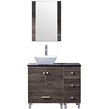 Bathjoy 36 Quot Bathroom Ply Wood Vanity Cabinet Single Square