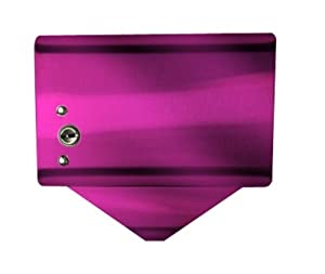 """S.A.C IC1000RPK Powder Coated Steel Sanitary Napkin Disposal Bag Dispense with Lock, 5-1/4"""" Length x 5-1/8"""" Width x 3-1/2"""" Height, Pink"""