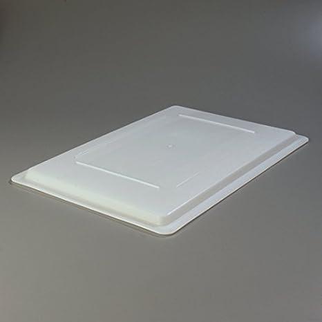 Case of 6 White 26 x 18 x 1.28 Carlisle 1064702 StorPlus Polyethylene Lock-Tight Lid