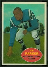 1960 Topps Regular (Football) Card# 5 Jim Parker of the Baltimore Colts VG Condition