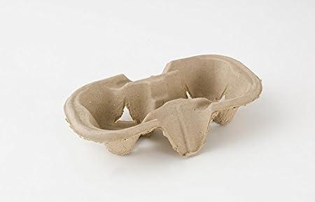 300 x 2 taza Biodegradable cartón papel/plástico Bandeja portavasos: Amazon.es: Hogar