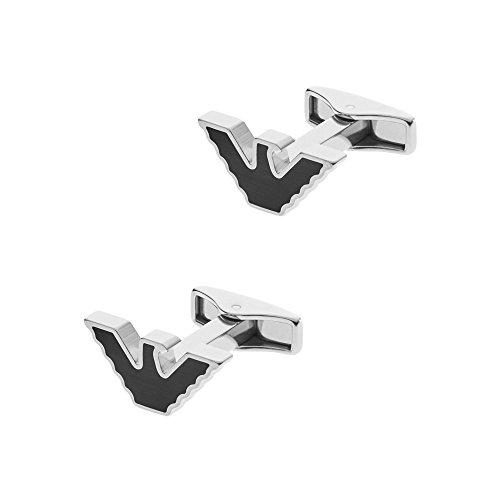 Emporio Armani Men's Stainless Steel Eagle Logo Cufflinks EGS2287040 in Gift Box