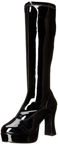 [Funtasma by Pleaser Women's Exotica-2000 Boot,Black Stretch Patent,8 M] (Black Platform Gogo Boots)