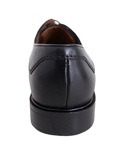 Mezlan Effen Zwarte Fiets Neus Oxford Lederen Kleding Schoenen