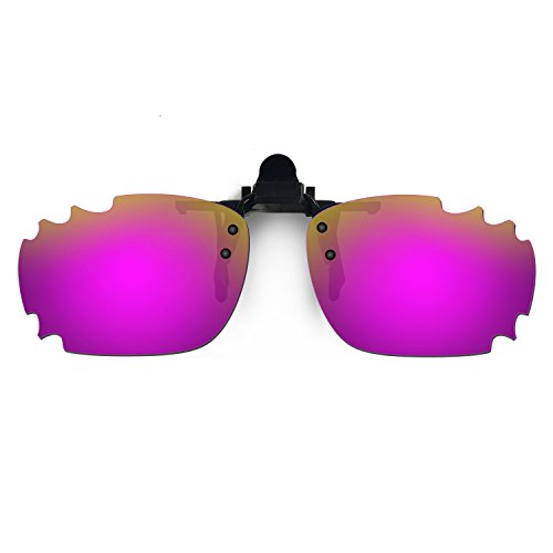 HKUCO Sunglasses Clip Purple Polarized Lenses For Myopia Frame Clip Polarized Lenses UV400 Protect