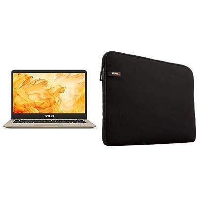 "ASUS VivoBook S Thin & Light Laptop, 14"" FHD, Intel Core i7-8550U, 8GB RAM, 256GB SSD, GeForce MX150 with Laptop Sleeve"