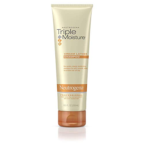 Neutrogena Triple Moisture Cream Lather Shampoo, 8.5 Fluid Ounce -- 12 per case.
