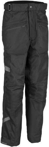 Firstgear HT Air Overpants , Size: 42, Size Modifier: Tall, Gender: Mens/Unisex, Distinct Name: Black, Primary Color: Black, Apparel Material: Textile