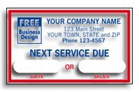 Static Windshield Cling - EGP Static Cling Windshield Service Label