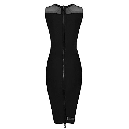 schwarz 36 schwarz HLBCBG Damen Kleid x0qwCS1C