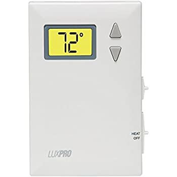 amazon com honeywell th1100dv1000 pro digital 2 wire heat only luxpro digital 2 wire heat only thermostat psd010b