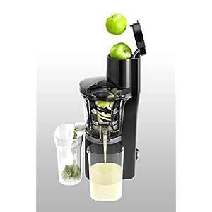 Panasonic MJ-L700KXE Slow Juicer, Estrattore di Succo Senza Lame, Accessorio Sorbetti, Imbocco Largo per Frutta/Verdura Intera, Design Salvaspazio, 150W, Nero - 2020 -