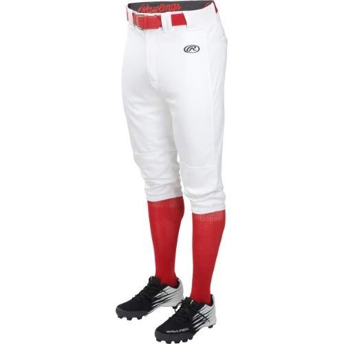 Rawlings Boys Ylnchkp-w-91 Baseball Pant, White, X-Large