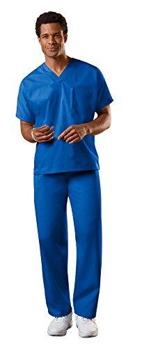 Cherokee Uniforms Authentic Workwear Unisex Scrub Set (Royal - X-Large)