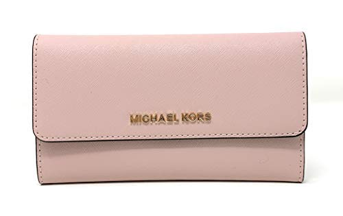 Michael Kors Jet Set Travel Large Trifold Saffiano Leather Wallet - Blossom/Fawn ()
