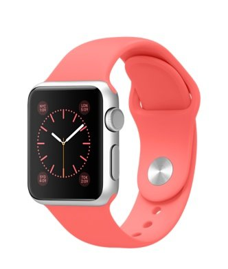 Apple Watch 38mm Silver Aluminum Case (Red)