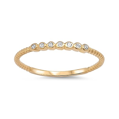 Eternity Band Half Bezel (Half Eternity Band Ring Round Cubic Zirconia Yellow Tone 925 Sterling Silver)