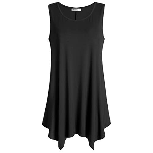 Wholesale Esenchel Women's Flowing Tunic Tank Top Sleeveless Loose Shirt hot sale