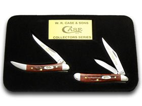 CASE XX Father Son Red Bone Pocketworn 1/2500 Peanut and Toothpick Knives