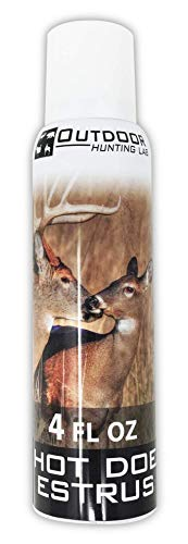 Hot Doe Estrus Deer Urine - 4 oz Aerosol Spray Can - Hunter Approved Buck Attractant - Cover & Conceal Human Scent & Smell When Hunting Whitetail - Same Season Collection - Hunt Ready Buck Bomb (Hunting Cover Scent Deer Urine)