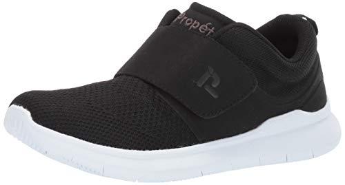 Propet Men's Viator Strap Sneaker, Black, 09 5E US