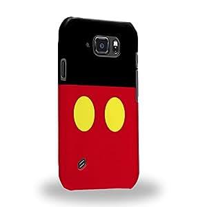 Case88 Premium Designs Art Couple Phone Case Series Mickey Carcasa/Funda dura para el Samsung Galaxy S6 Active