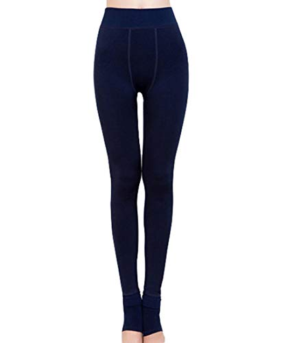 RomanticTaste Romastory Winter Warm Women Velvet Elastic Leggings Pants, Navy Blue, One Size