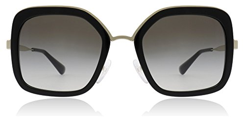 Prada Women's Oversized Square Sunglasses, Black/Grey, One ()