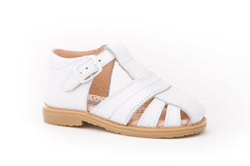 Sandalias para Niños 1ª Calzadura Todo Piel mod.537. Calzado infantil Made in Spain, garantia de calidad. Blanco