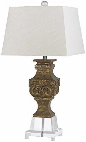 Clear Pierson 1 Light Pedestal Base Table Lamp Amazon Com