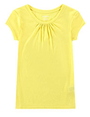 Bienzoe Girl's School Uniform Anti-Microbial Breathable Quick-Dry Short Sleeve Crew Neck T-Shirt PackC 6/6X by Bienzoe (Image #4)