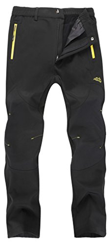 Singbring Men's Outdoor Windproof Hiking Pants Waterproof Ski Pants Medium ()