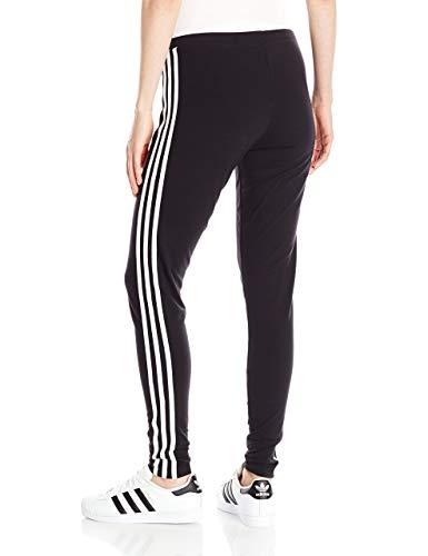 adidas Originals Women's 3-Stripes Leggings, Black/Trefoil Stripe, Medium (US Size) (US Size)