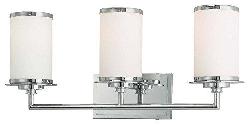 Cheap  Minka Lavery Wall Light Fixtures 4534-267B, Bath Art Glass Bath Vanity Lighting,..