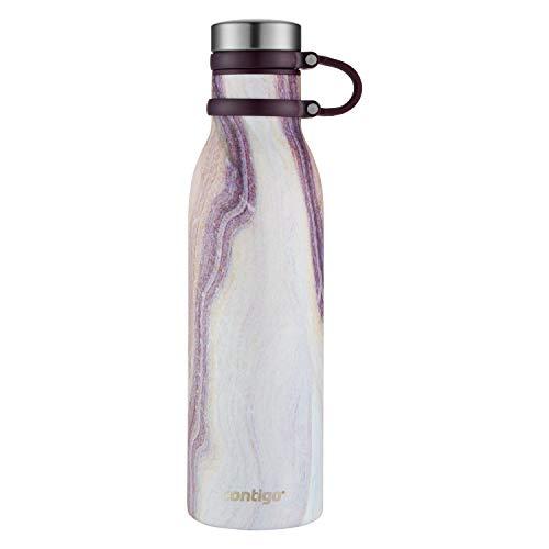 Contigo 2045468 Couture - Botella de agua (acero inoxidable), arena (Sand Stone), 591.47 mililitros, 1