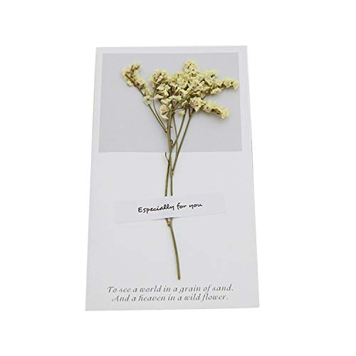 1pcs Birthday Dried Flowers Invitations Postcards Wedding Party Festival Greeting Card,NO.8