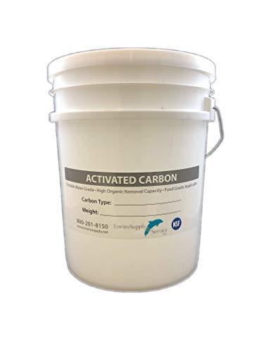 Premium 4mm Pellet Virgin Bituminous Coal Activated Carbon Charcoal - Bulk 20 lb. Bucket!
