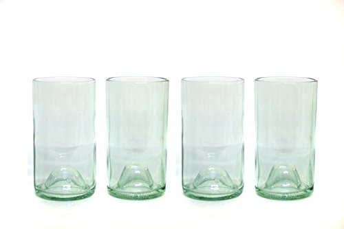 Refresh Glass Recycled Wine Bottle Glasses, 16oz set (Antique) - Wine Glass Antique