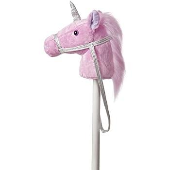 """Aurora World World Giddy-Up Fantasy Stick Horse 37"""" Plush, Unicorn"""