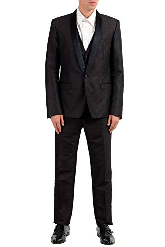 3 Gold Button Wool Suit - Dolce & Gabbana