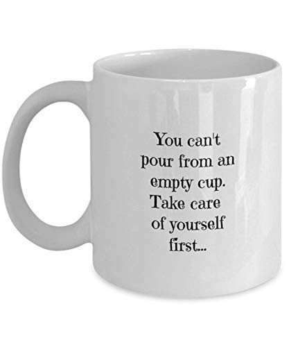 Amazoncom Caretakers Coffee Mug Empty Cup Saying Cant Pour From